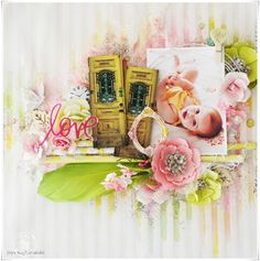 """My Craft World: """"LOVE""""-Mixed media layout for Prima BAP"""