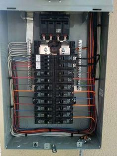 now that s one neat electrical panel cable management rh pinterest com Electrical Panel Installation Electrical Panel Installation
