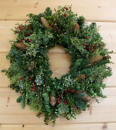 Berry Evergreens Wreath