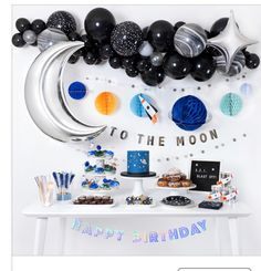 22 Ideas For Baby Boy Birthday Party Themes Astronaut Party, Astronaut Birthday Party Ideas, Outer Space Party, Outer Space Theme, Boy Birthday Parties, Themed Parties, Parties Kids, Baby Boy Birthday Themes, Boy Theme Party