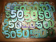 50th Birthday Celebration Cookies