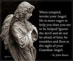 John Bosco - by-grace-of-god: Call on your guardian angel. Catholic Quotes, Catholic Prayers, Catholic Saints, Religious Quotes, Roman Catholic, Catholic Beliefs, Intuition, St John Bosco, Angel Quotes