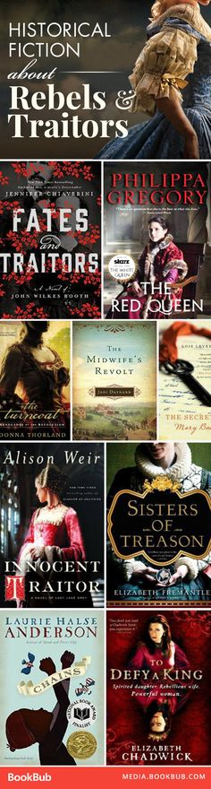 10 great historical fiction books about traitors and rebellion.