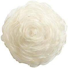 Ivory Round Pillow, a rosette pillow from Pier 1 Imports, a little over the top feminine
