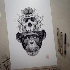 animal-skull-drawings-paul-jackson-5 http://www.artfido.com/blog/spine-chilling-animal-drawings-by-paul-jackson/