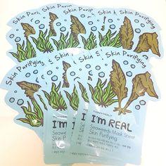 TONYMOLY I'm Real Facial Mask Sheet Seaweeds 21g per Sheet 3/7/15/33 Sheets Lot #Tonymoly