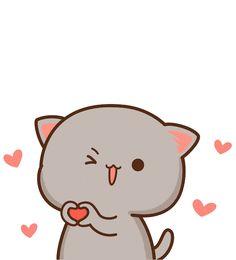 dog and cat. Cute Bear Drawings, Cute Animal Drawings Kawaii, Cute Cartoon Drawings, Kawaii Drawings, Cute Cartoon Images, Cute Love Cartoons, Cute Cartoon Wallpapers, Cute Couple Wallpaper, Cute Emoji Wallpaper