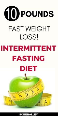 Intermittent fasting for weight loss is a great way to lose weight fast. I lost 10 pounds in one month fasting 16 hours a day, and I'm sharing my rapid weight loss results! Quick Weight Loss Tips, Weight Loss Help, Diet Plans To Lose Weight, Losing Weight Tips, Weight Loss Plans, Healthy Weight Loss, How To Lose Weight Fast, Loose Weight, Reduce Weight
