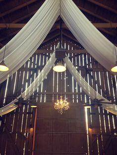 Camarillo Ranch, Event Photos, Draping, Wordpress, Barn, Chandelier, Ceiling Lights, Crystals, Lighting