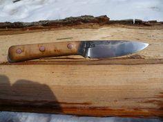 Hand forged knife: Birds eye maple/O1