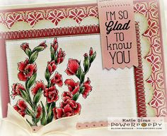Dynamic Duos: Glads and Gerberas Stamp Set. Stamps by Power Poppy, Card Design by Katie Sims!