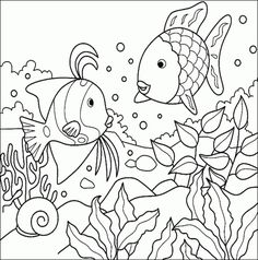 http://colorings.co/free-printable-coloring-pages-for-girls-fish/ #Coloring, #Fish, #Girls, #Pages, #Printable