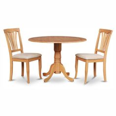 East West Furniture Dublin 3 Piece Drop Leaf Dining Table Set with Microfiber Avon Chairs - DLAV3-