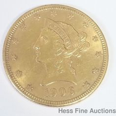 1906D XF Plus $10 Ten Dollar US Liberty American Coronet Eagle Gold Coin