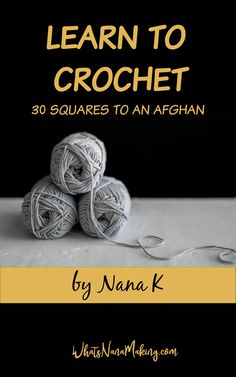 Learn to Crochet series Archives - What's Nana Making? Crochet Afghan Stitch, Crochet Shell Stitch, Crochet Stitches Patterns, Crochet Round, Double Crochet, Single Crochet, Crochet Basics, Crochet For Beginners, Linen Stitch