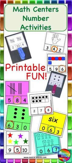 Counting and number recognition to 10. Use tally marks, dice patterns, finger counts, numerals, words, blocks, items