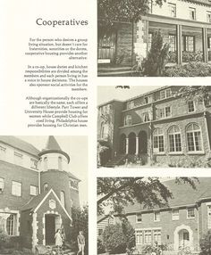 Co-op housing at the UO 1974-75. From the 1975 Oregana (University of Oregon yearbook). www.CampusAttic.com