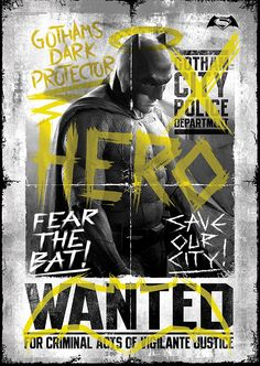 Buy this Batman vs Superman - Batman Wanted MightyPrint Wall Art Poster.