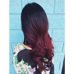 Red violet ombre