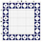Inverted Squares 2 Cross Stitch Border - by StitchMeKnot.com