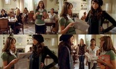 Ashleigh: Oh, my god, you guys. Have you seen today's Courier?Frannie: We have a school paper? (reads headline) Oh, my god.- Greek 1x1...