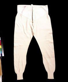 Risultati immagini per 1890 men's long johns Vintage Underwear, Vintage Lingerie, Male Underwear, Long Underwear, Mens Long Johns, 1850s Fashion, 19th Century Fashion, Lingerie For Men, Mens Attire