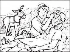 Bible colouring for kids: The Good Samaritan