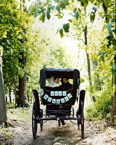 Jayme and Chris hit the road in a decked-out antique carriage.