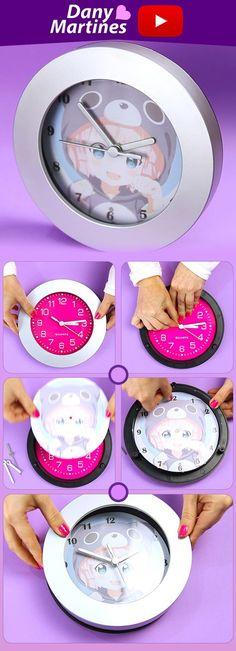 Faça Você mesmo um relógio super fofinho pra decorar sua casa, DIY, Do It Your Self, Kawaii