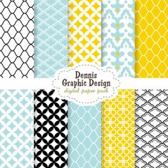 Digital Scrapbook Paper Clip Art - patterns collection - personal and commercial use
