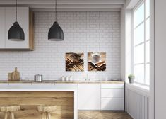 This warm-toned wood look porcelain with a parquet style option is perfect for modern farmhouse or Scandinavian design. Available in 10 x 10 inch tile and deco pieces. Kitchen Cabinet Organization, Home Organization Hacks, Scandinavian Kitchen, Scandinavian Design, Kitchen Tile, Kitchen Design, Tiles Price, Interior Desing, Kitchen Gallery