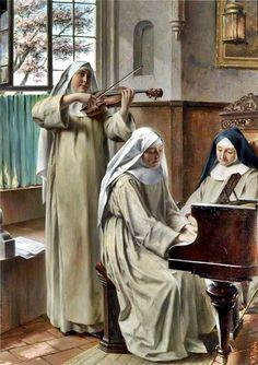 Nuns making music !