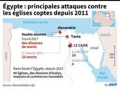 Egypte : principales attaques contre les églises coptes depuis 2011 / AFP