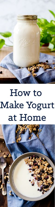 Learn how to make yogurt at home without any fancy equipment. Get tips and tricks for success and how to tailor the yogurt to your tastes. This is a wonderfully easy healthy recipe you will use regularly!