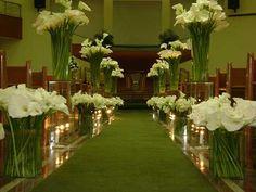 Calla Lillies, Calla Lily, Church Wedding Decorations, Table Decorations, Church Flowers, Album, Wedding Sets, Flower Arrangements, Home Decor