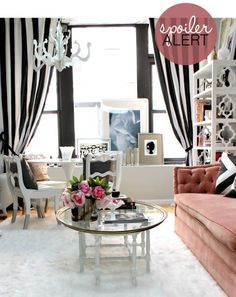 striped curtains for your office?