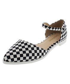 Another great find on #zulily! Checkerboard Julique Buckle D'Orsay Flat by Liliana Footwear #zulilyfinds