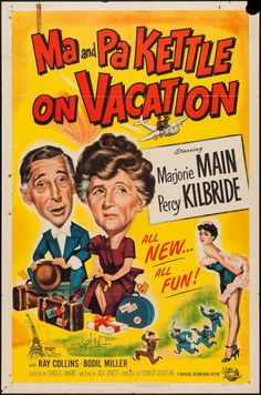 "Movie Posters:Comedy, Ma and Pa Kettle on Vacation (Universal International, 1953). OneSheet (27"" X 41""). Comedy.. ... Image #1"