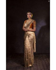 Image may contain: 2 people, people standing Bridal Sarees South Indian, Bridal Silk Saree, Indian Bridal Fashion, Indian Wedding Outfits, South Indian Bride, Saree Wedding, Tamil Wedding, Pattu Saree Blouse Designs, Saree Photoshoot