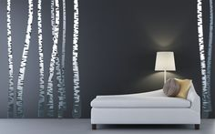 Realistic Birch Trees Wall Decal REUSABLE by StudioWallDecals, $160.00