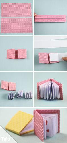Anleitung - Mini Origami Buch - Talu.de