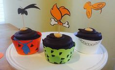 The Flintstones Cupcake Wrapper and Topper by LollipopParty