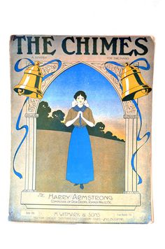 Antique Art Nouveau Piano Sheet Music The Chimes by VintageSoup, $10.50