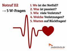 ❗ Heute ist Tag der #ErstenHilfe ❗ Wer im #Notfall richtig reagiert, kann #Leben #retten ❤️. #Gesundheit #Notruf #Arzt #Unfall