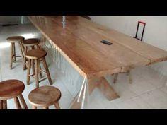 Mesas de madeira - 37 mesas de madeira para sua inspiração - YouTube