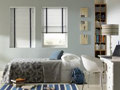 Need some inspiration for your bedroom windows? Check out the Gotcha Covered idea gallery for ideas on custom blinds, shades, and more. Kids Window Treatments, Window Coverings, Mini Blinds, Blinds For Windows, Bedroom Windows, Beautiful Blinds, Aluminum Blinds, Horizontal Blinds, Budget Blinds