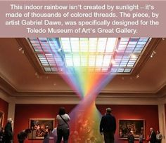 WTF Facts : funny, interesting & weird facts — Gabriel Dawe creates rainbows from thread Beautiful Places To Travel, Cool Places To Visit, Places To Go, Wtf Fun Facts, Crazy Facts, Random Facts, Bizarre Facts, Funny Facts, Random Stuff