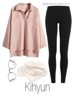 """Night In // Kihyun"" by suga-infires ❤ liked on Polyvore featuring WithChic, Polo Ralph Lauren, Ray-Ban and Dot & Bo"