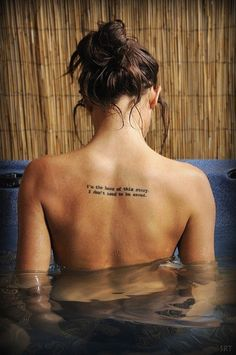 Hot quote tattoo for girls - Tattoo - cartilage: Black words tattoos for girl by Quote Tattoos