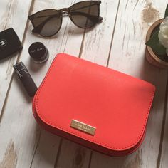 """Kate Spade Crossbody Bag Brand new with tags Kate Spade Saddle Crossbody bag in geranium color Saffiano leather with snap closure.  Adjustable strap.  One open inside pocket.  Outer slot. Fully lined.  Fits an IPhone 6 Plus!   Measurements 7"""" X 6"""" X 2""""   Open to reasonable offers through the offer button only! kate spade Bags Crossbody Bags"""